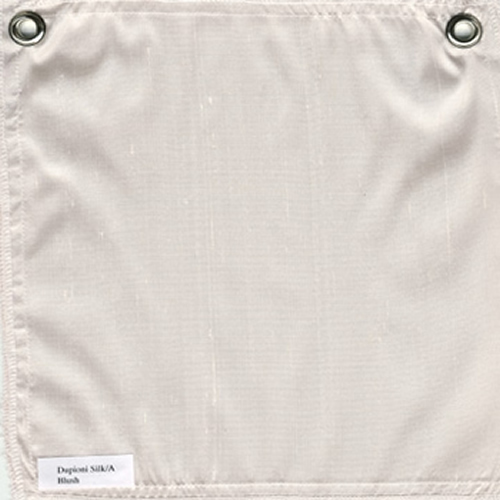 Lulla Smith  Dupioni Silk Fabric Sample - Blush
