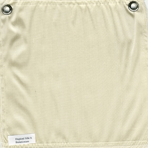 Lulla Smith  Dupioni Silk Fabric Sample - Buttercream