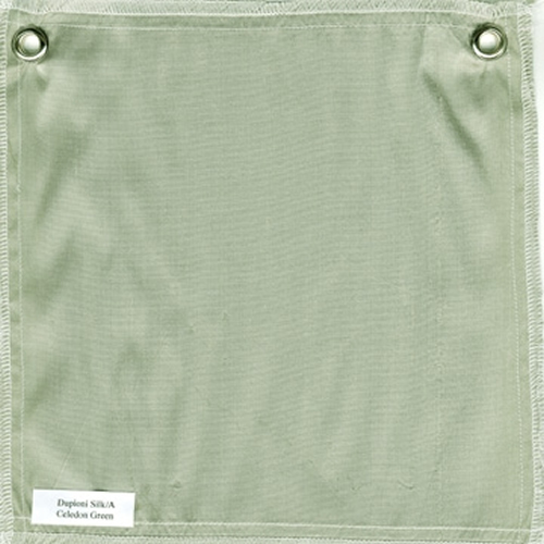 Lulla Smith  Dupioni Silk Fabric Sample - Celedon Green