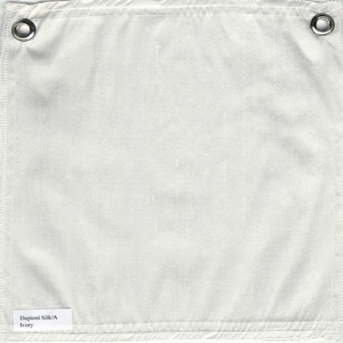 Lulla Smith  Dupioni Silk Fabric Sample - Ivory
