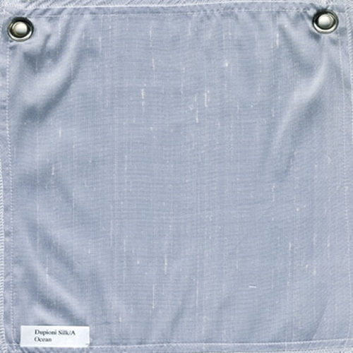 Lulla Smith  Dupioni Silk Fabric Sample - Ocean