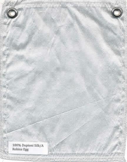 Lulla Smith  Dupioni Silk Fabric Sample - Robins Egg