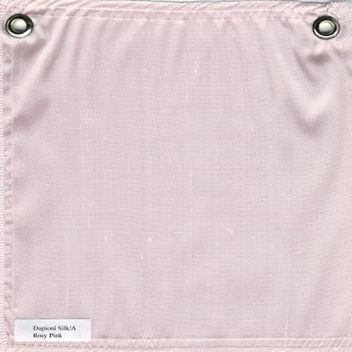 Lulla Smith  Dupioni Silk Fabric Sample - Rosy Pink
