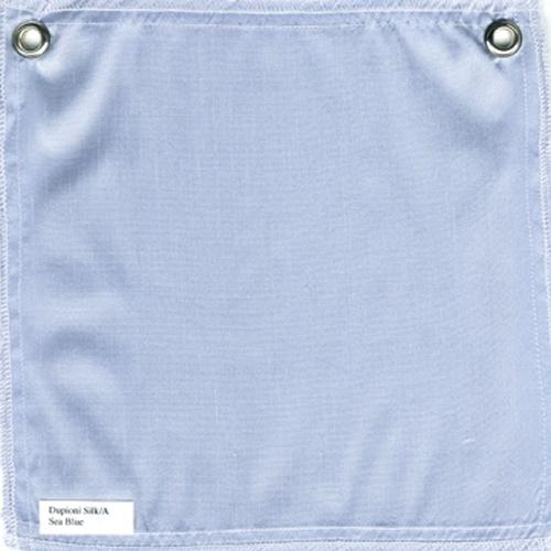 Lulla Smith  Dupioni Silk Fabric Sample - Sea Blue