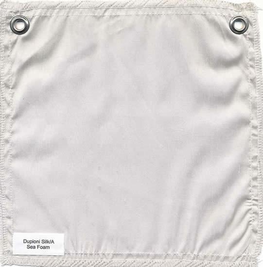 Lulla Smith  Dupioni Silk Fabric Sample - Sea Foam