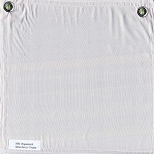 Lulla Smith  Dupioni Silk Fabric Sample - Strawberry Cream