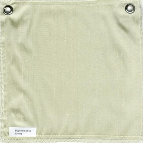 Lulla Smith  Dupioni Silk Fabric Sample - Spring Green