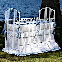 Lulla Smith Baby Bedding Essex Linen Set - Dupioni Silk
