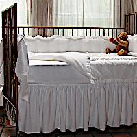 Lulla Smith Baby Bedding Hampton Linens - Cotton Seersucker