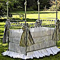 Lulla Smith Baby Bedding Helsinki Linen Set - Dupioni Silk