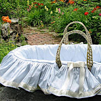 Lulla Smith Baby Bedding Iris Moses Basket