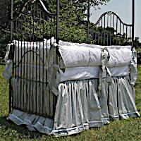 Lulla Smith Baby Bedding Manhattan Linen Set - Dupioni Silk