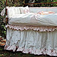 Lulla Smith Baby Bedding Pretty Linens - Dupioni Silk