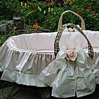 Lulla Smith Baby Bedding Roses Moses Basket