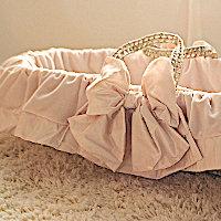 Lulla Smith Baby Bedding Sabine Silk Velvet Moses Basket