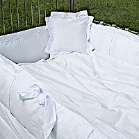 Lulla Smith Baby Bedding Sanibel Linen Set - Cotton Seersucke