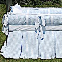 Lulla Smith Baby Bedding Santa Cruz Linen Set - Cotton Seersucker