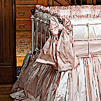 Lulla Smith Baby Bedding Sorbonne Linen Set - Dupioni Silk