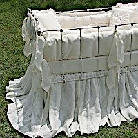 Lulla Smith Baby Bedding Sorrento Linen Set - Organic Cotton Fleece