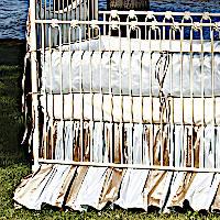 Lulla Smith Baby Bedding Whitby Linens - Dupioni Silk