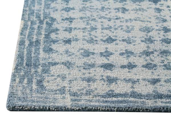 MAT Orange Burbank Area Rug - Light Blue