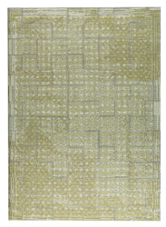Mat-Orange-Burbank-Yellow-Beige-new-zealand-wool-rug-thumb