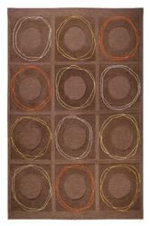 MAT Orange Circa Area Rug - Charcoal