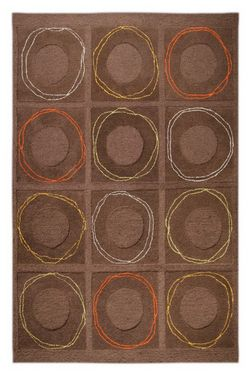 MAT Orange Circa Area Rug - Charcoal