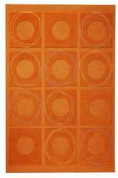 MAT Orange Circa Area Rug - Rust