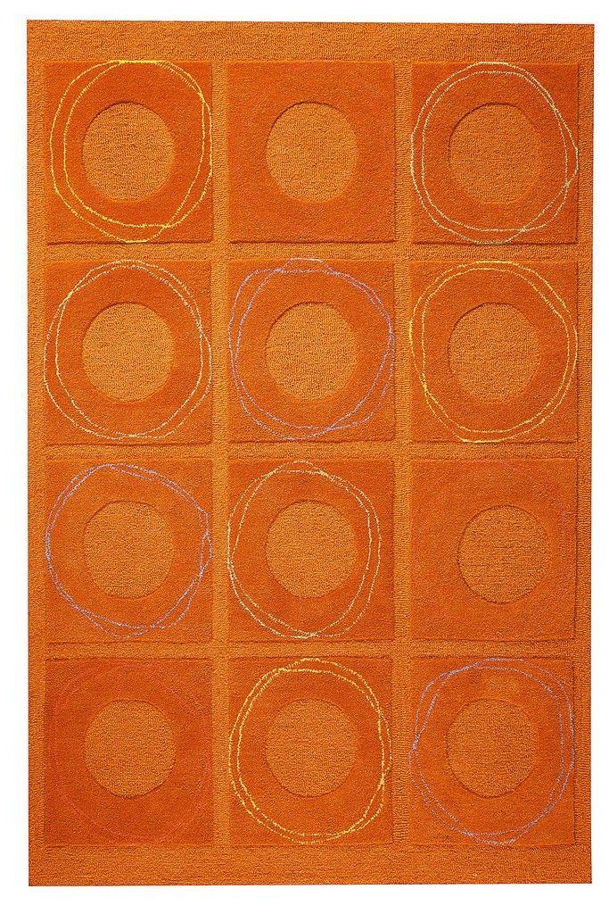 Superior MAT Orange Circa Area Rug   Rust