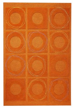 MAT Orange Circa Area Rug - Rust