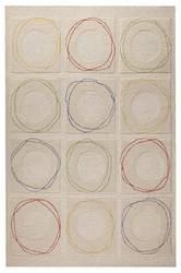 MAT Orange Circa Area Rug - White