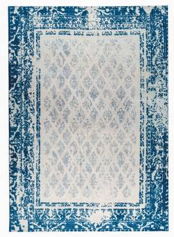 MAT Orange Corona Area Rug - Blue