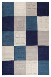 Mat-Orange-Cuadro-Blue-Grey-indian-wool-rug-thumb-200
