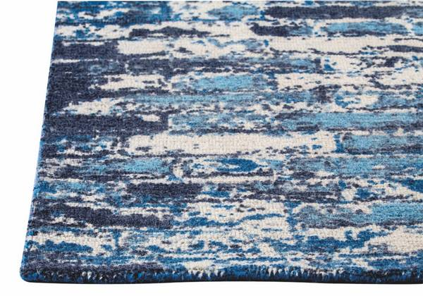 MAT Orange Fargo Area Rug - Blue