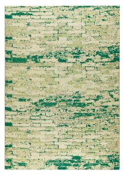 MAT Orange Fargo Area Rug - White Green