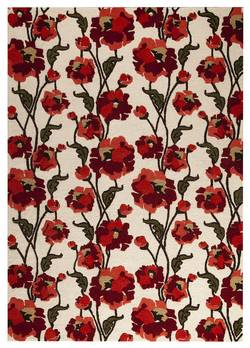 MAT Orange Fiore Area Rug - White Red
