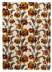 Mat-Orange-Fiore-White-Rust-viscose-wool-rug-thumb-200