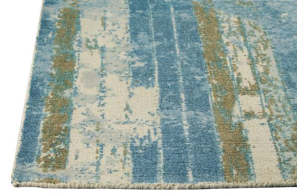 MAT Orange Hayward Area Rug - Light Blue Beige