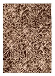 Mat Orange Labyrinth Area Rug - Beige Brown