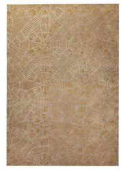 Mat Orange Labyrinth Area Rug - Beige Grey