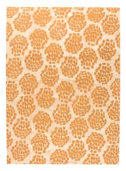 MAT Orange Midland Area Rug - Beige Orange