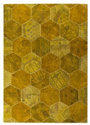 MAT Vintage Honey Comb Area Rug - Gold