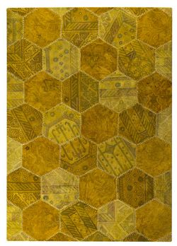 MAT Vintage Honey Comb Area Rug - Gold