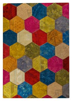 MAT Vintage Honey Comb Area Rug - Multi