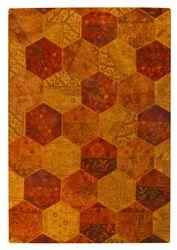 MAT Vintage Honey Comb Area Rug - Orange