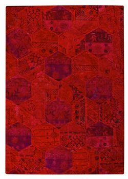MAT Vintage Honey Comb Area Rug - Red