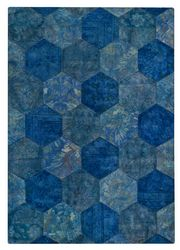 MAT Vintage Honey Comb Area Rug - Turquoise