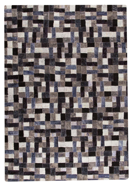 MAT Vintage Puzzle Area Rug   Grey