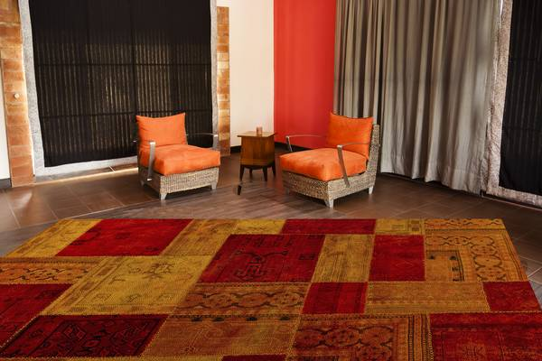 MAT Vintage Renaissance Area Rug - Red Orange